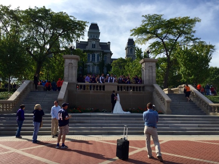 Wedding day photo forever, LSU fans!