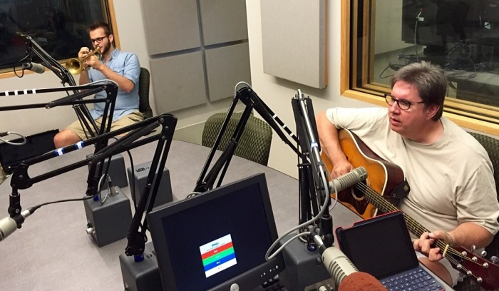 Nick and Gary Frenay play in the WAER studio.