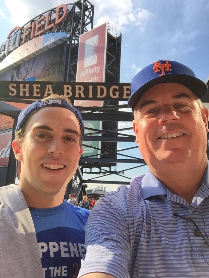 Brad and Jimmy Johnson at Citi Field.