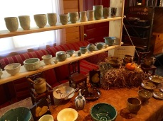 Dishes, bowls and more, made by Bruce.