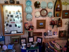 Bruce's pottery and Cathy's jewelry fit so well together in the store.