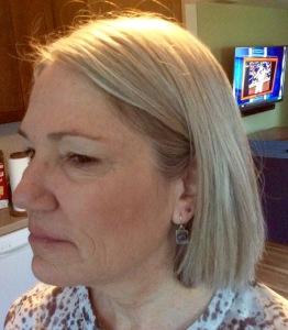 My beautiful dear wife Karen models the opal earrings.