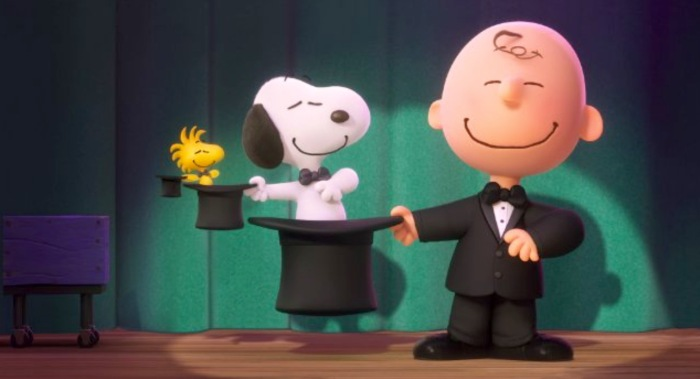 Woodstock, Snoopy and Charlie Brown, talented all.  (From IMDb.com)