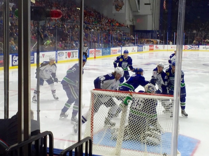 The winning goal for the Syracuse Crunch.