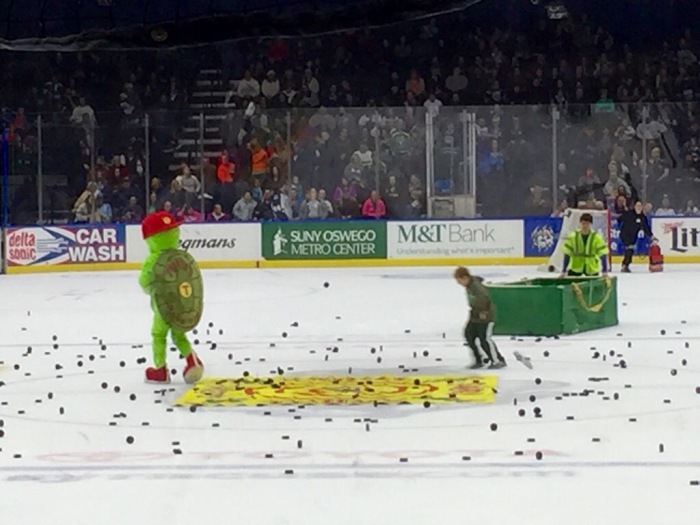 The puck stops near.