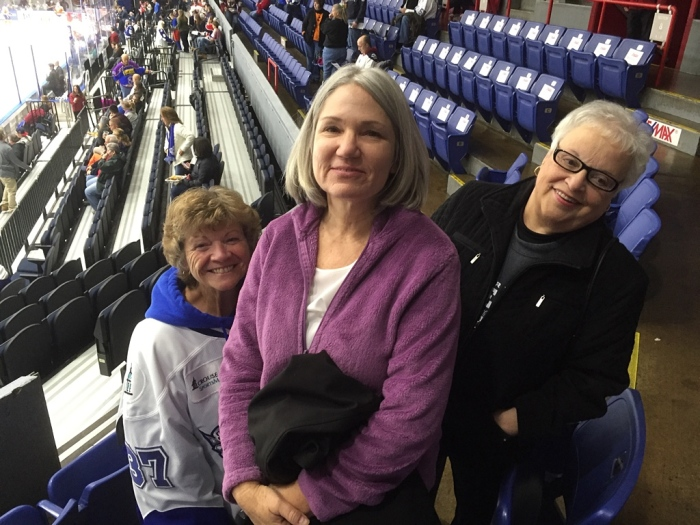 Brenda, Karen and JoAnn before the game.