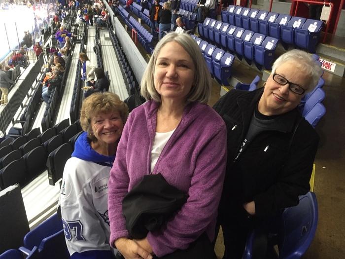 Brenda, Karen and JoAnn before the game.