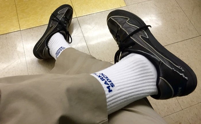 Now my official bowling sockware.