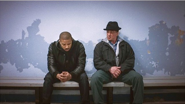 Michael B. Jordan and Sylvester Stallone in Creed. (From IMDb.co)