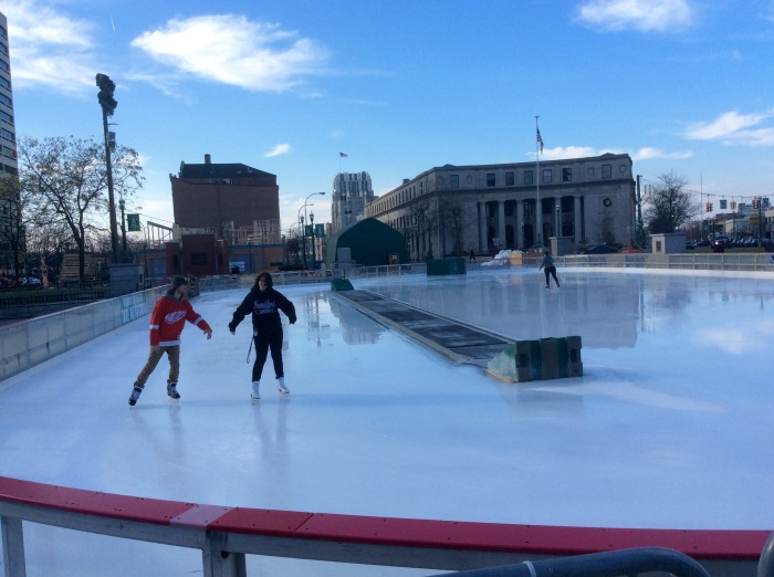 Ice skating and December go hand in hand.