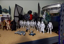 Jamie Cheeseman's Star Wars collection.