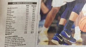 A bad start for Syracuse. (From The Post-Standard)