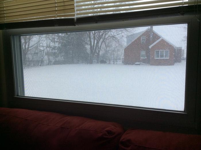 Lookin' out my side window.