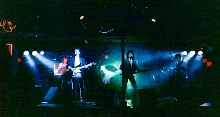 The Shop performing at the Lost Horizon in the late-1980's.  Photo credit (Photo by Steve Stafford, from Facebook, CNY Music Archives)