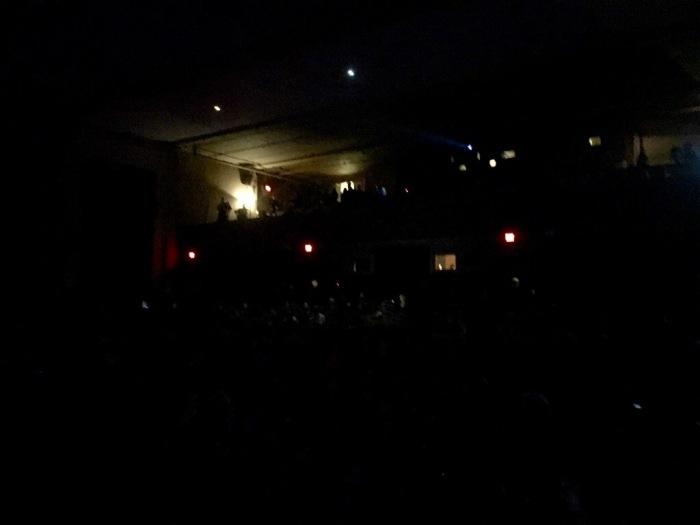 House lights off.