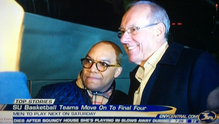 Two winning coaches (From WSTM-3 News broadcast)