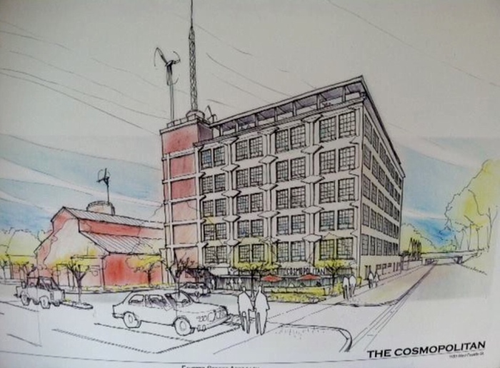 An artist's rendition of The Cosmopolitan in Syracuse.  (From LRSrecords.com)