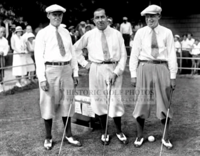 Wiffy Cox, Gene Sarazen and Walter Hagen. (Getty Images)