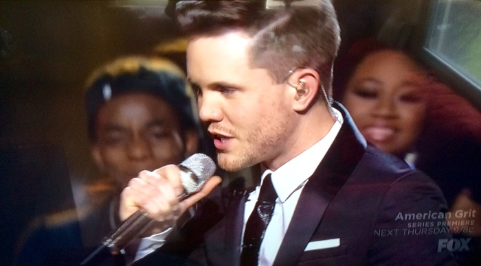 Trent Harmon, the final 'AI' winner. (From my wide-screen)