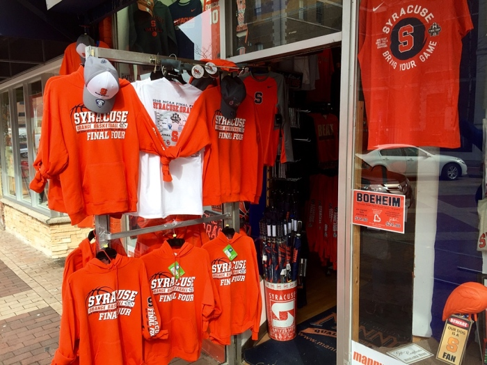 Syracuse supports the Orange.