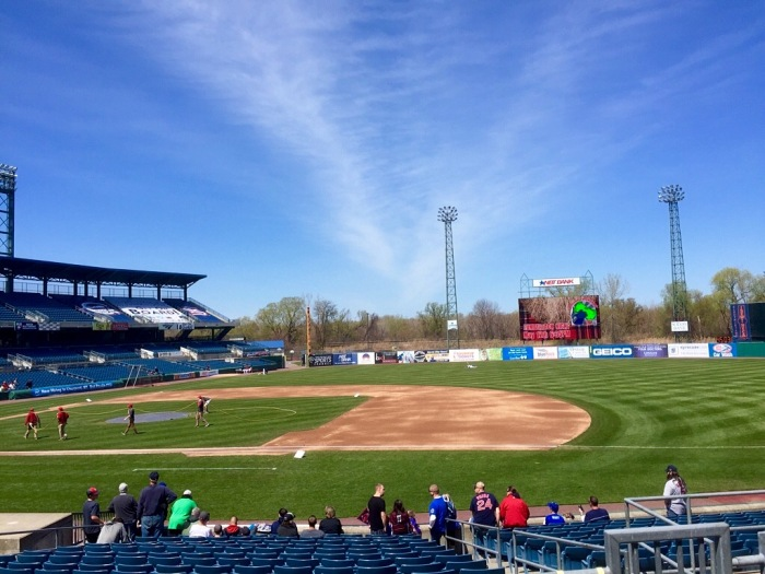 Looking good, NBT Bank Stadium on the last day of April, 2016.