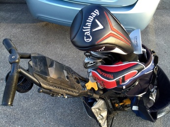 My Upswing Golf putter was back in the bag where it belonged.