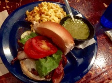 Now this is a pretty burger and sides.