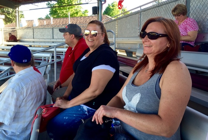 Scott, Michelle and Kris feeling at home behind the plate.