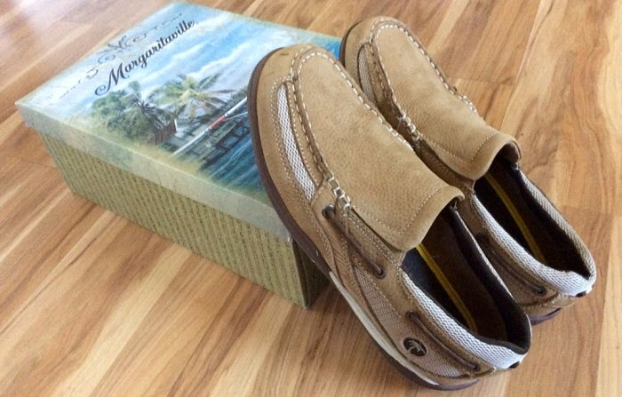 My spiffy new pair of Margaritaville loafers.