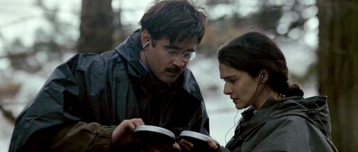 Colin Farrell and Rachel Weisz may or may not couple in The Lobster. (From IMDb.com)