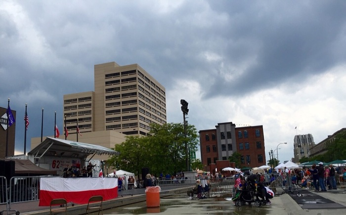 Gray day for Polish Fest.