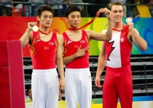 Chinese trampoline gold medal winner Dong Dong. (From WikiPedia)