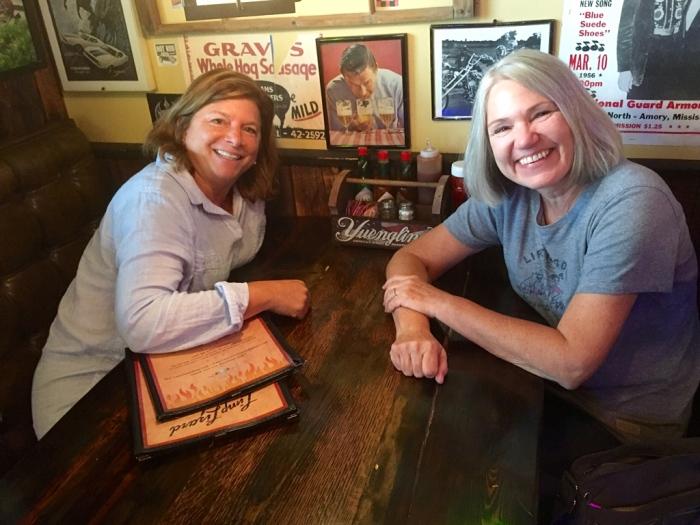 Beth and Karen in the Limp Lizard.