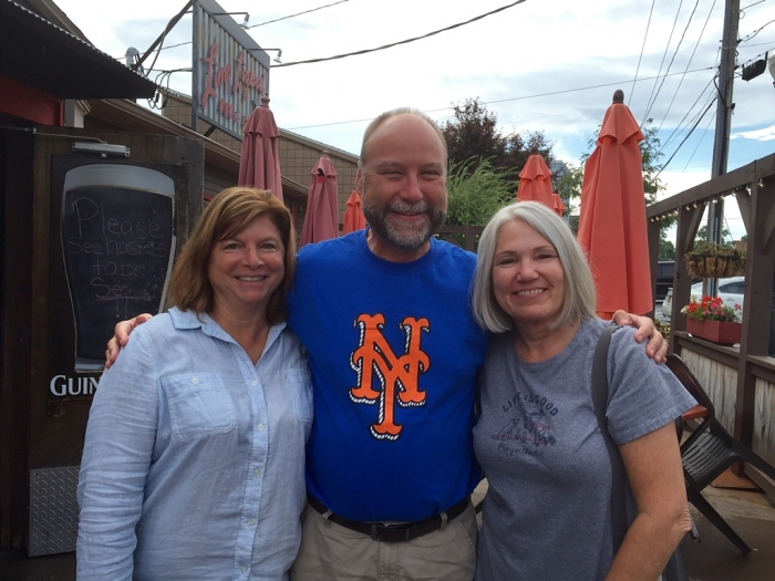 Beth, me and my dear wife Karen outside the Limp Lizard.