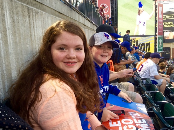 Erin and James, younger Mets fans.