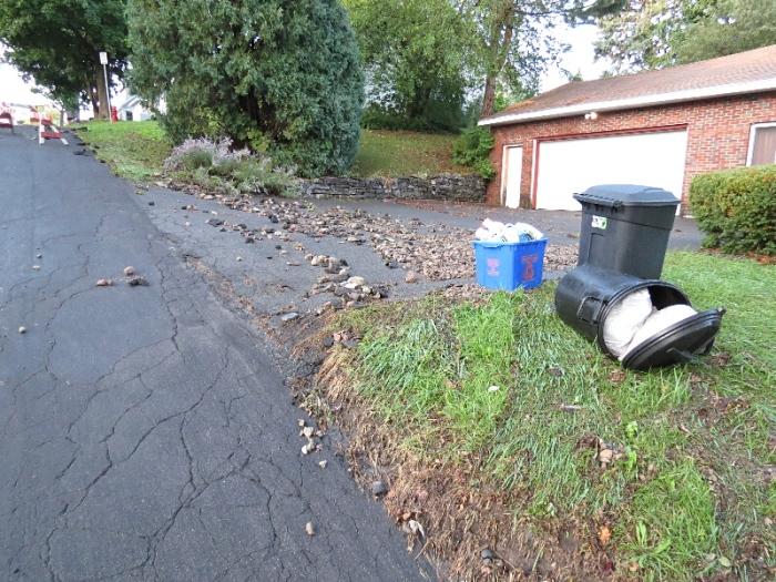 Poor neighbor's driveway.