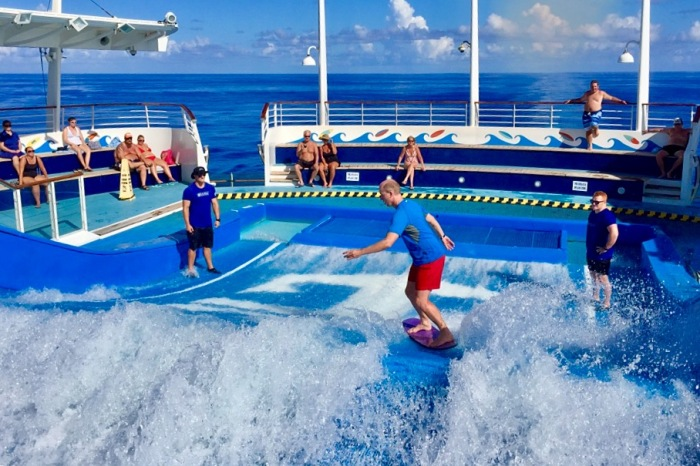Bringing the waves onto the ship.