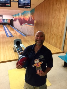 Flat Stanley goes bowling.