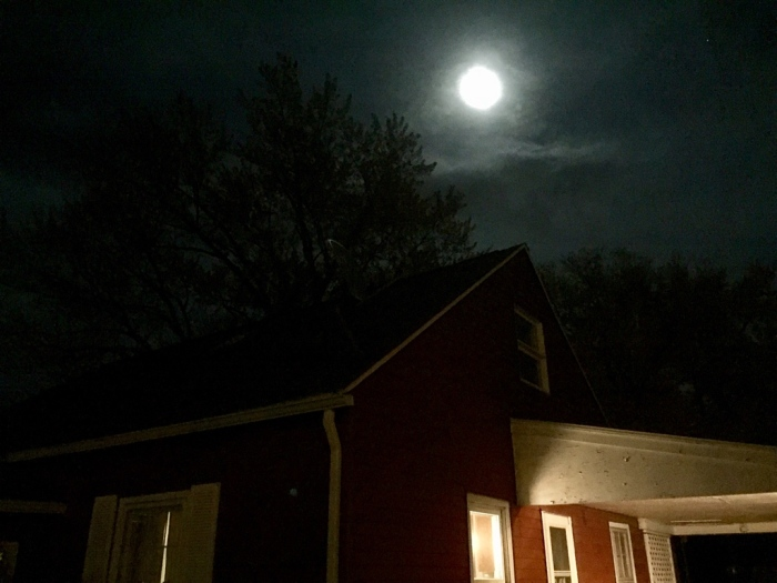 Moon over our house.