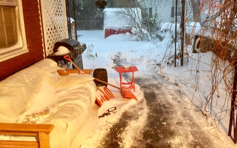 Side, shoveled.