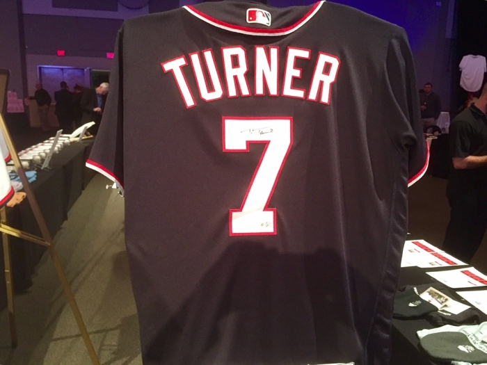 Trea Turner's signed jersey.