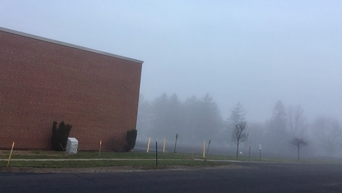 Fog to the right side of Town Hall.