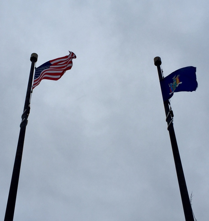Flags out