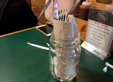 Unique way to place the utensils.