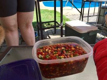 Elisabeth's homemade salsa.