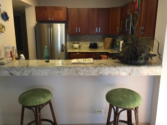 Kitchen, with counter.