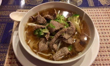 Beef and noodles, medium.