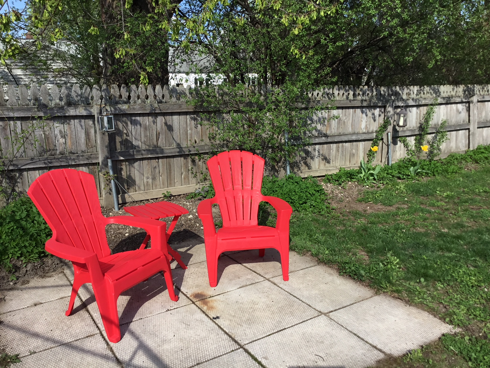 One More Chance For The Plastic Red Adirondack Chairs