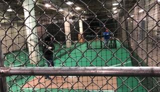Indoor batting spot.