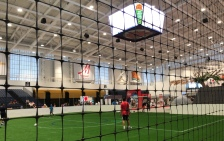 Soccer, indoors.